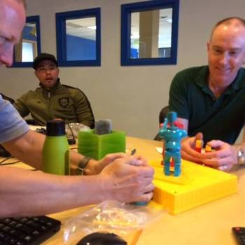 Ascentis - Just a little Rock 'em Sock 'em Robots with the dev team in Bellevue yesterday #cultureofplay