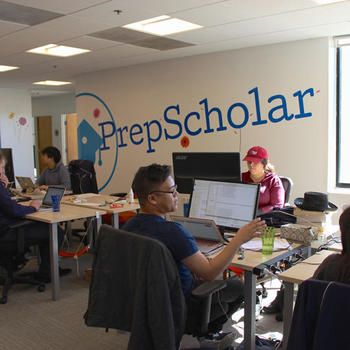 PrepScholar - Our main working space is an open room.