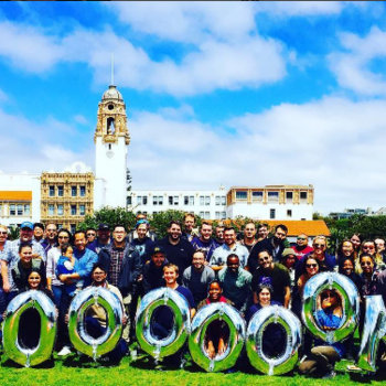 Checkr - Celebrating our 5,000,000 background check at Dolores Park