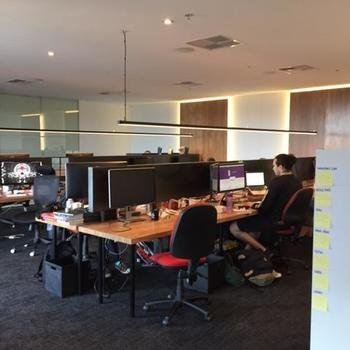 SitePoint - The office, with funky lighting