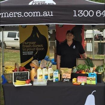 Aussie Farmers Direct - Franchisee stall set up.