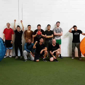 Kinetic Commerce - We enjoy team bonding activities like Bubble Soccer