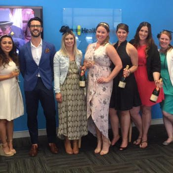 Health Engine - Melbourne Cup in the office; sweepstakes, dresses and afterwork drinks.