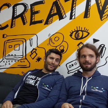 Gigaspaces Technologies, Inc. - Never a dull moment at GigaSpaces...hard at work on the couch of innovation.