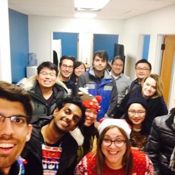 Borealis AI - Team selfie for Christmas sweaters