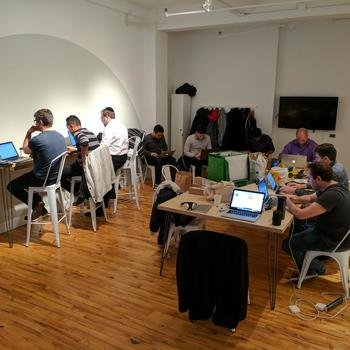 SiteCompli - Our Tech team at a recent Hackathon.