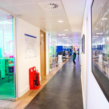 SixEye Limited - We work in a bright, spacious office, shared with Carallon.