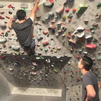Joist Software Inc. - Monthly event, this month...indoor rock climbing!