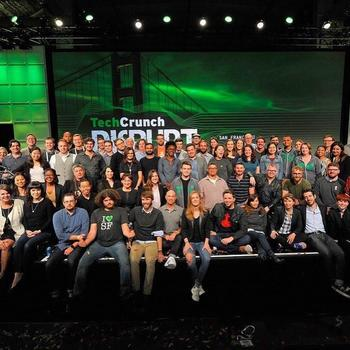 TechCrunch - Team photo taken on stage at the wrap of every Disrupt conference