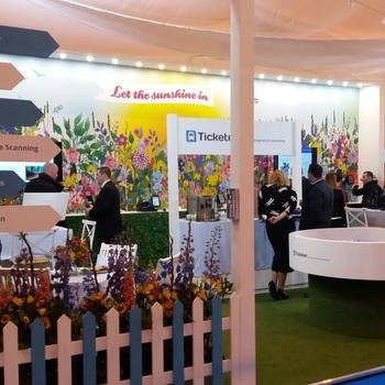 Ticketer - Our showstopping stand at the EuroBus conference in 2016. It was the belle of the ball.