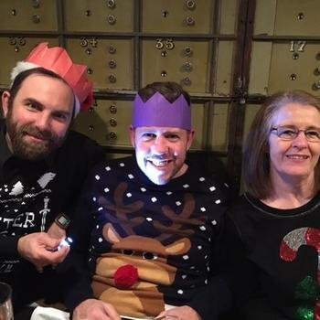 Ticketer - A few of the team feeling jolly at Christmas party 2016.