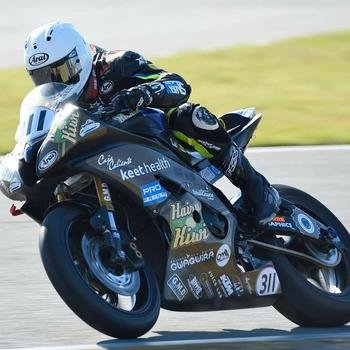 Keet Health - Our motorcycle in the Daytona 200