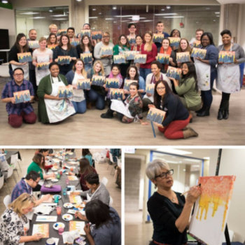 Echo Global Logistics, Inc. - As part of our #EchoEnrichment series, Wet Paint Chicago recently taught Echo team members how to paint the Chicago skyline!
