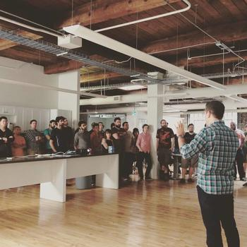 Bounteous - Monthly All-hands, our CEO giving an update to the entire team
