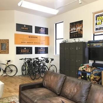 Rhumbix - A great office with games, social spaces, and even more amenities.
