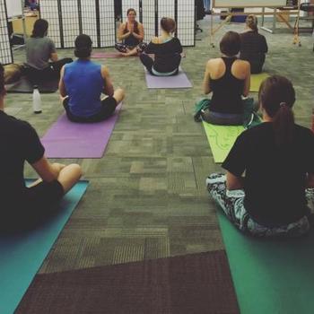 Kapost - Weekly yoga class!
