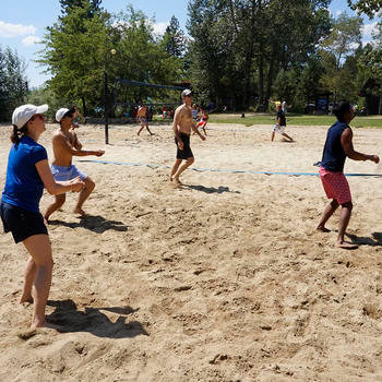 C3, Inc. - Beach volleyball, soccer, gym with pool and climbing wall, baseball field - all on campus