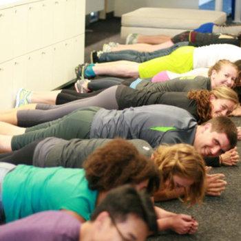 Fitbit - Lunch break planks!