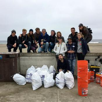 Giving Assistant - Company volunteer day, cleaning up Ocean Beach