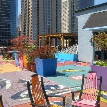 Redshelf, Inc. - Rooftop deck at our Chicago office! (We have WiFi our here too!)