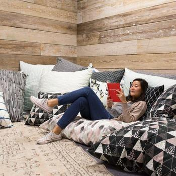 Minted - The Pillow Room - where you can work or take a break.