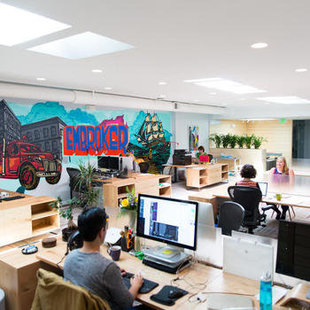 Embroker - Our SF office is a bright, open, modern space in the Mission, in what used to be a yoga studio