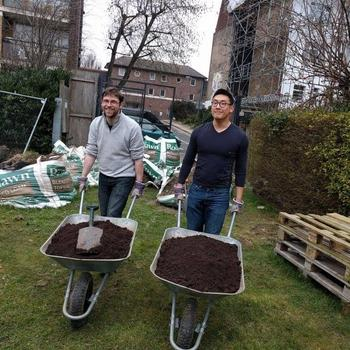 FundApps - We offer generous volunteering leave - we helped build a garden for an Islington school