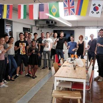 FundApps - Celebrating a client win under our flags!