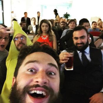 Rainforest QA - Sometimes we dress up and take a massive group selfie.