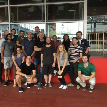 Execonline - Development team Laser Tag during 2017 Company offsite