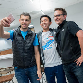 Affirm, Inc. - Max & Libor taking a selfie with one of the engineers!