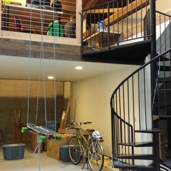 Technical Machine - And the crown jewel of our office: a spiral staircase!