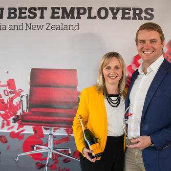 Prospa - One of our CEO's Beau Bertoli and our General Manager of People and Culture honoured with the award as Best Employer in the AON Best Employers Program 2017