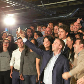 Wealthsimple - Look who dropped by the office today! #trudeau