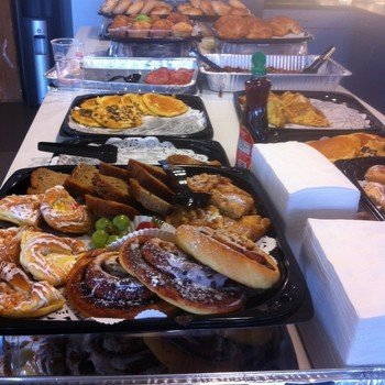 Bullhorn - Like pancakes? We cater in breakfast every Friday :)