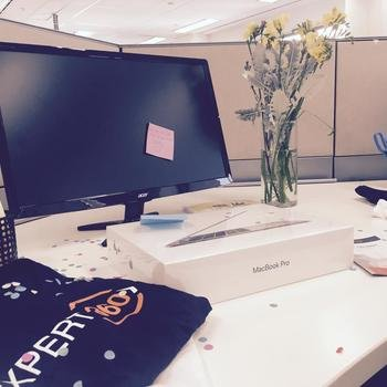 Expert360 - Confetti everywhere! This is how we welcome our new starters.