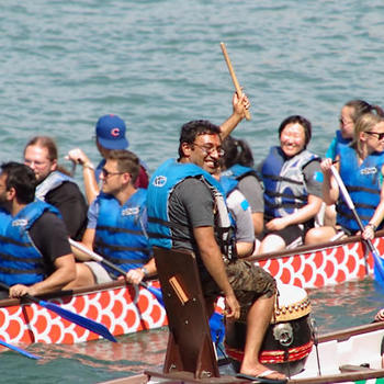 OneMain General Services Corporation - Quarterly team building event, Dragon boat racing!