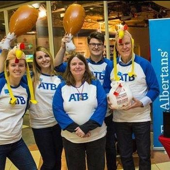 ATB Financial - ATB volunteers accepted donations for the @cbcedmonton Turkey Drive in Edmonton!