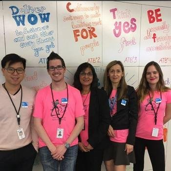 ATB Financial - This Week @ ATB our team members were decked out in pink, leading the charge against bullying. #albertapink