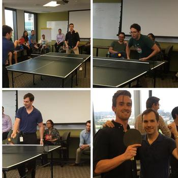 Everyone Counts, Inc. - The inaugural E1C ping pong tournament.