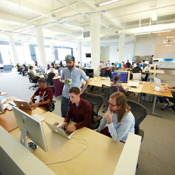 Recurly - Wide open office with lots of light in the Mission!