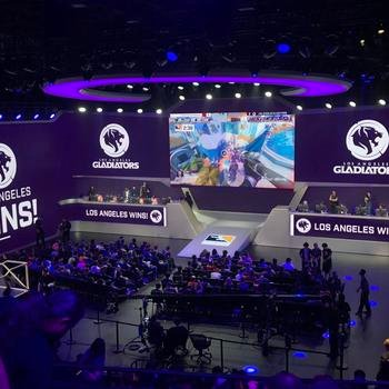 Blitz Esports - We're a mix of engineering, design, and media folks who love esports. This is us at the Overwatch League in the Blizzard Arena.