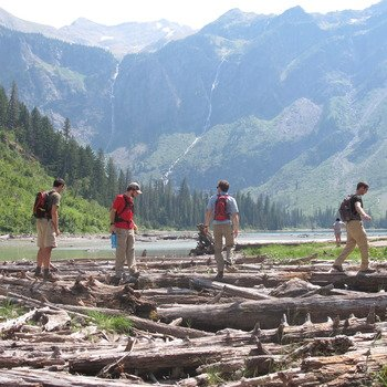 Storyblocks - Our team does awesome retreats together.  Like this one to Glacier National Park.