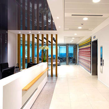 Joseph Hage Aaronson - The top floor reception space in our high-spec modern offices