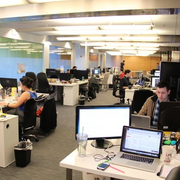Storyblocks - We have a fun open office layout.