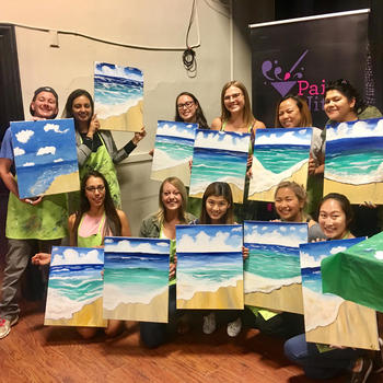 Highfive - Ladies (+Jeff) of Highfive paint night