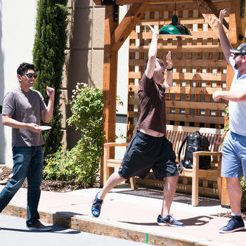 Highfive - Bocce ball company off-site