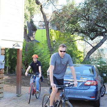 Zello - Biking to lunch