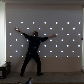 SPYSCAPE - Motion testing one of the button walls in our Laser Tunnel game