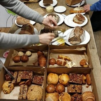 goodlord - Team breakfast from Day Old Eats, a social enterprise funding hunger charities